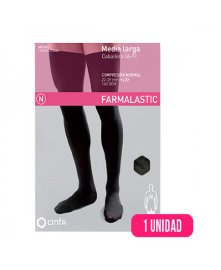 MEDIA LARGA (A-F) COMP NORMAL CABALLERO FARMALASTIC SILICONA T- EGDE 2 U