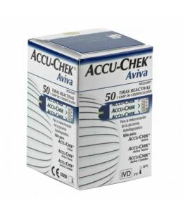 TIRAS REACTIVAS GLUCEMIA ACCU-CHEK AVIVA 50 TIRAS