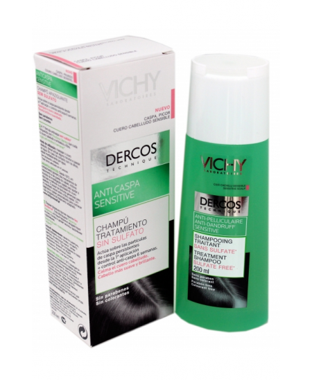 DERCOS TECHNIQUE CHAMPU ANTICASPA SENSIBLE 1 ENVASE 200 ML