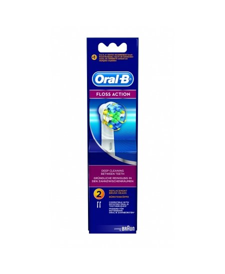 CEPILLO DENTAL ELECTRICO ORAL-B FLOSS ACTION EB25RB RECAMBIO 3 UNIDADES
