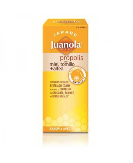 JUANOLA PROPOLIS JARABE CON MIEL TOMILLO Y ALTEA 1 ENVASE 150 ML SABOR MIEL