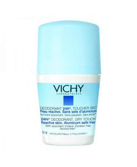DESODORANTE 24 H TACTO SECO VICHY ROLL ON 50 ML