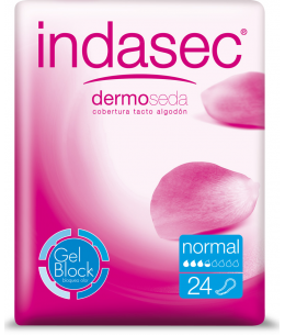 INDASEC DISCREET NORMAL COMPRESA PERDIDAS LEVES 24 ABSORB