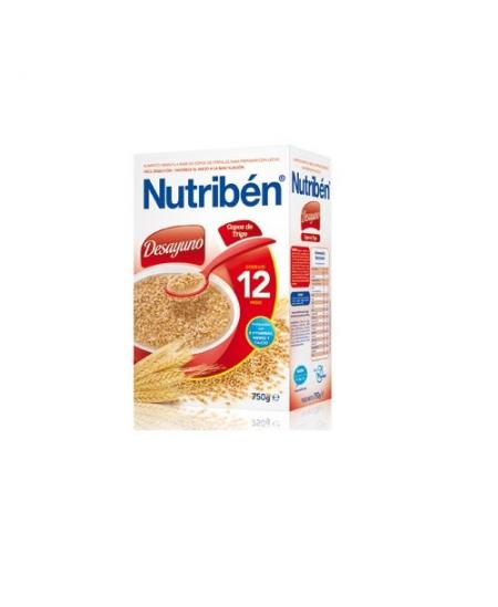 NUTRIBEN DESAYUNO COPOS DE TRIGO 1 ENVASE 750 G