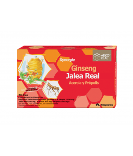 ARKOREAL JALEA REAL GINSENG SIN AZUCAR 20 AMPOLLAS 15 ML