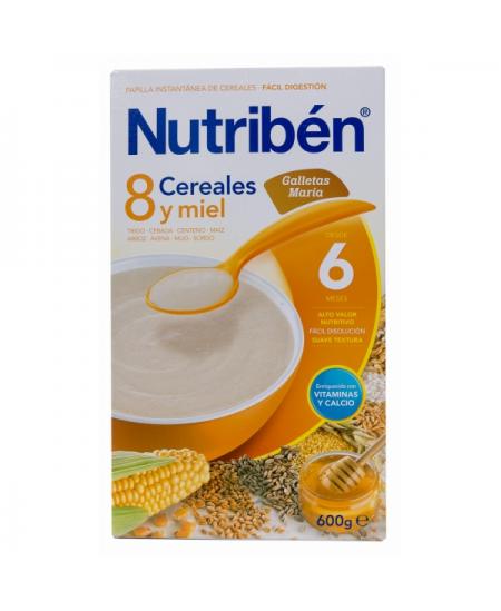 NUTRIBEN PAPILLA 8 CEREALES GALLETAS MARIA 1 ENVASE 300 G