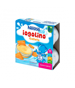 NESTLE IOGOLINO GALLETA Y CACAO 100 G 4 TARRINAS
