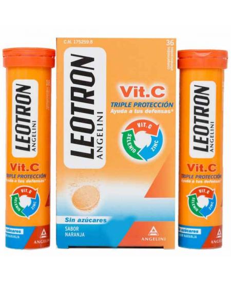 LEOTRON VITAMINA C 36 COMPRIMIDOS EFERVESCENTES