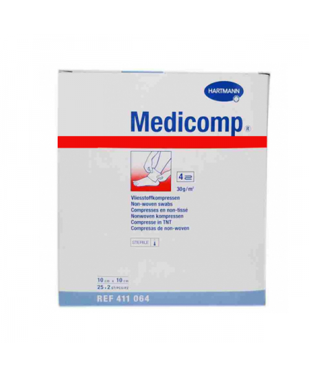 MEDICOMP COMPRESAS APOSITO ESTERIL 10 SOBRES 2 UNIDADES 10 CM X 10 CM