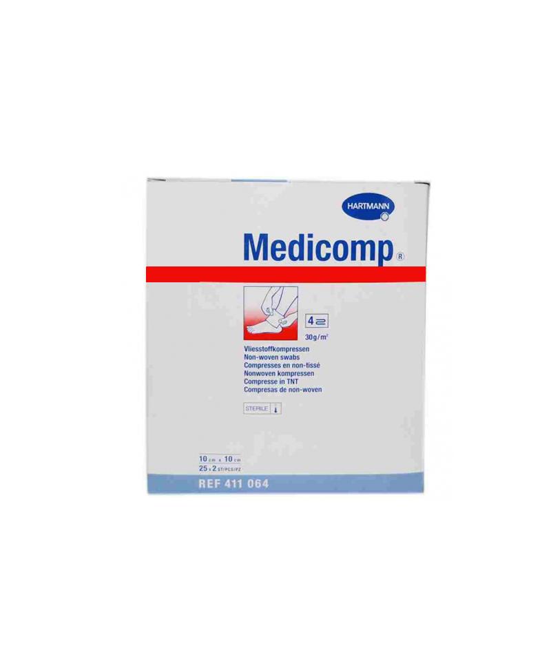 Medicomp compresas aposito esteril 10 x 10 cm 10 sobres 2 u for 10 x 10 x 10