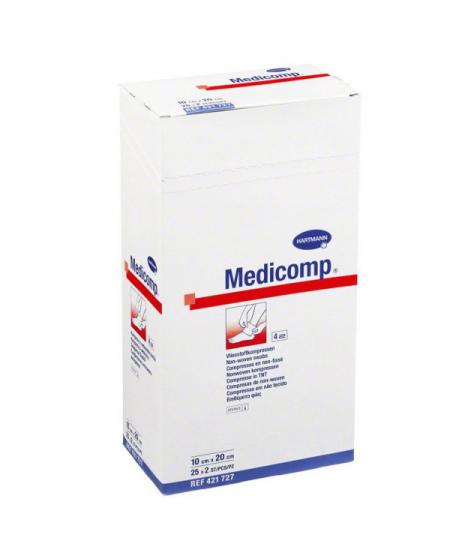 MEDICOMP COMPRESAS DE TEJIDO NO TEJIDO ESTERILES 50 UNIDADES 20 X 10 CM