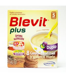 BLEVIT PLUS DUPLO 8 CEREALES CON MIEL Y GALLETAS 600 G