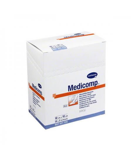 MEDICOMP COMPRESAS NON WOVEN 10 X 10 CM 25 SOBRES 2 U