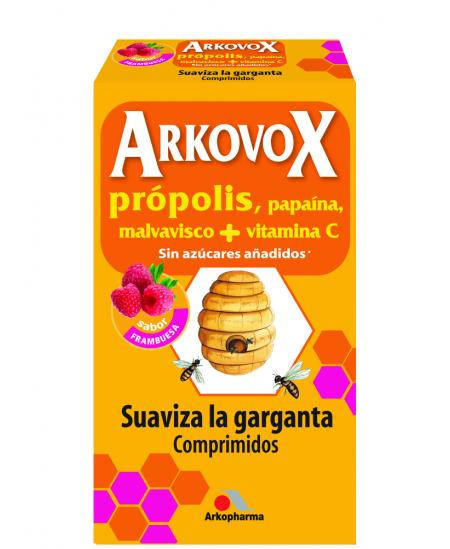 ARKOVOX PROPOLIS + VITAMINA C 24 COMPRIMIDOS MASTICABLES SABOR FRAMBUESA