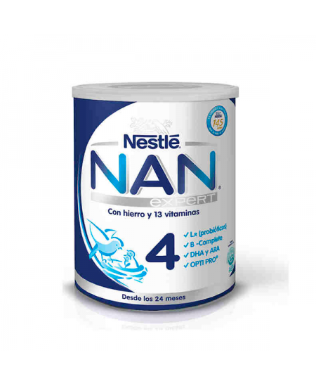 NAN OPTIPRO 4 PREPARADO LACTEO INFANTIL 800 G