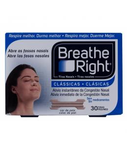 BREATHE RIGHT CLASICAS TIRA ADH NASAL 30 UNIDADES TALLA PEQUEÑA-MEDIANA