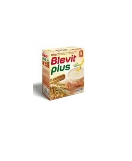 BLEVIT PLUS SUPERFIBRA PAPILLA 5 CEREALES 1 ENVASE 600 G