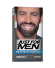 JUST FOR MEN BIGOTE Y BARBA GEL COLORANTE 1 ENVASE 30 ML COLOR NEGRO