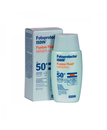 FOTOPROTECTOR ISDIN FUSION FLUID MINERAL SPF 50 1 ENVASE 50 ML