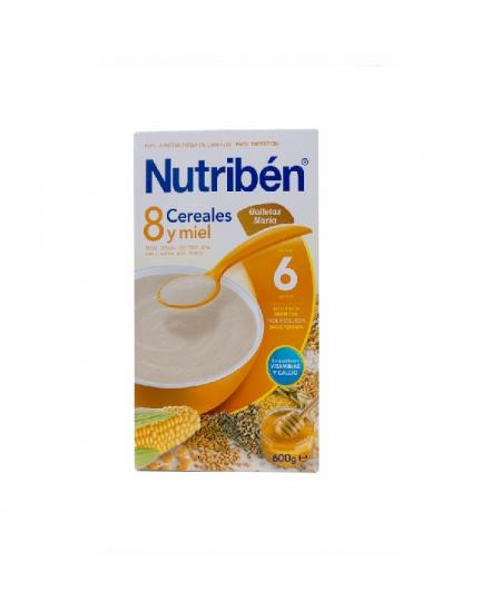 NUTRIBEN 8 CEREALES Y MIEL GALLETAS MARIA 1 ENVASE 600 G
