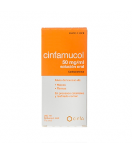 CINFAMUCOL CARBOCISTEINA 50 MG/ML SOLUCION ORAL 1 FRASCO 200 ML