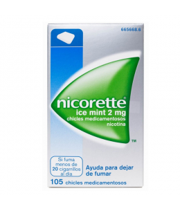 NICORETTE ICE MINT 2 MG 105 CHICLES