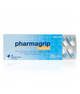 PHARMAGRIP 500/4/10 MG 14 CAPSULAS