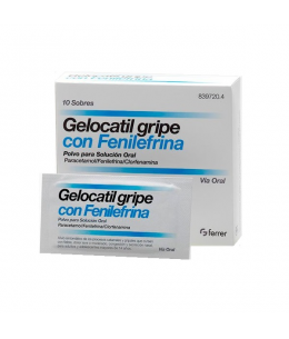 GELOCATIL GRIPE FENILEFRINA 10 SOBRES