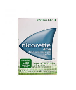 NICORETTE 4 MG 105 CHICLES
