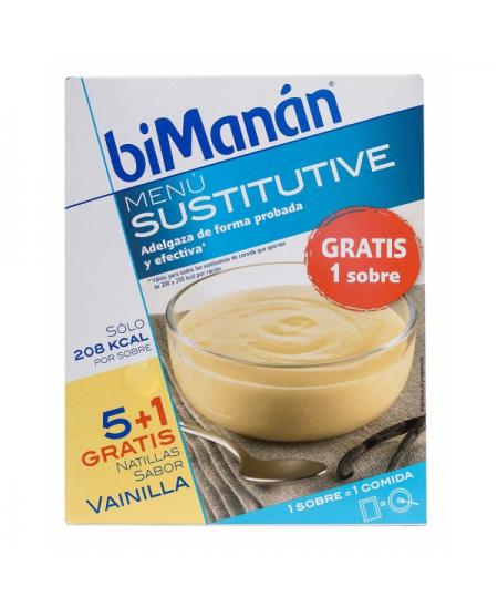 BIMANAN BESLIM SUSTITUTIVO NATILLA VAINILLA 6 SOBRES 55 G