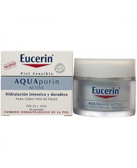 EUCERIN AQUAPORIN ACTIVE CREMA HIDRATANTE FPS 25+ UVA 1 ENVASE 50 ML