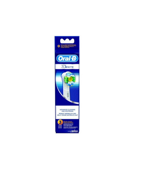 CEPILLO DENTAL ELECTRICO RECARGABLE ORAL-B 3D WHITE EB18PRB RECAMBIO 3 UNIDADES
